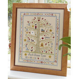 Tree A-Z Boy Birth Sampler Cross Stitch Kit