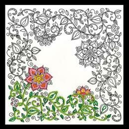Design Works Garden - Zenbroidery Fabric Pack