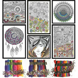 Design Works Zenbroidery Super Set (6 fabric designs and 60 mixed threads)