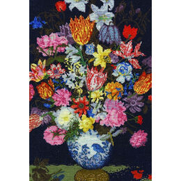 Bosschaert - A Still Life Of Flowers In A Wan-Li Vase Cross Stitch Kit
