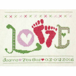 Love Baby Girl StitchKits Cross Stitch Kit