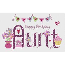 Aunt Birthday Cross Stitch Kit