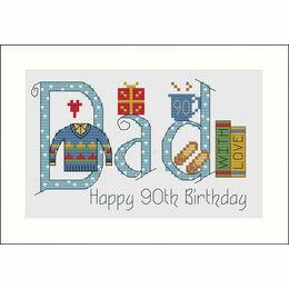 Dad Cross Stitch Card Kit