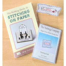Nutmeg Guide To Stitching On Paper + 3D Greeting Card Butterfly Starter Kit