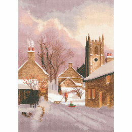 Snowy Village Cross Stitch Kit