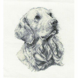 Golden Retriever Cross Stitch Kit