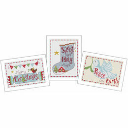 Large Christmas Cards Cross Stitch Kit (Set Of 3)