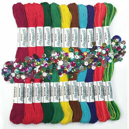 Zenbroidery Christmas Trim Pack (12 Skeins Stranded Cotton Thread)