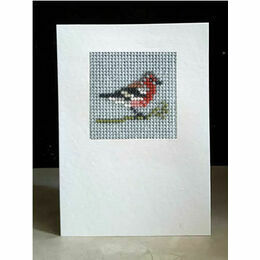 Chaffinch Mini Beadwork Embroidery Card Kit