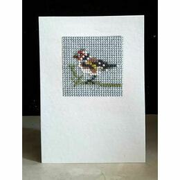 Goldfinch Mini Beadwork Embroidery Card Kit