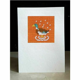 Fred The Mallard Mini Beadwork Embroidery Card Kit