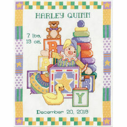 Toys Birth Sampler Cross Stitch Kit