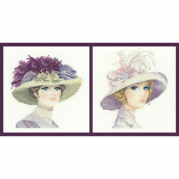 Hannah And Amelia Set Of 2 Elegance Miniature Cross Stitch Kits