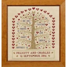 Heart And Tree Wedding Sampler Cross Stitch Kit