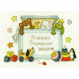 Toy Box Birth Sampler Cross Stitch Kit
