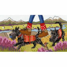 Highland Walkies Cross Stitch Kit