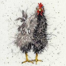 Curious Hen Cross Stitch Kit