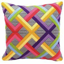 Bold Geometric Style 1 Long Stitch Cushion Panel Kit