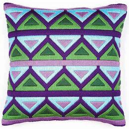 Bold Geometric Style 5 Long Stitch Cushion Panel Kit