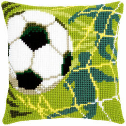 Football Chunky Cross Stitch Cushion Panel Kit