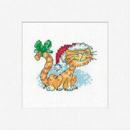Christmas Tigger Cross Stitch Card Kit