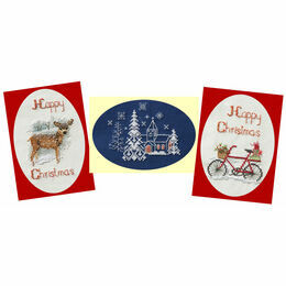 Christmas Trio Card Collection - Set Of 3 Cross Stitch Christmas Card Kits