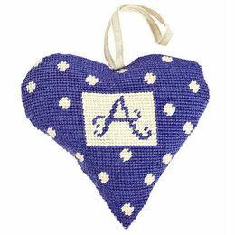 Purple Alphabet Lavender Heart Tapestry Kit