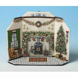 Christmas Morning Room Scene 3D Cross Stitch Kit
