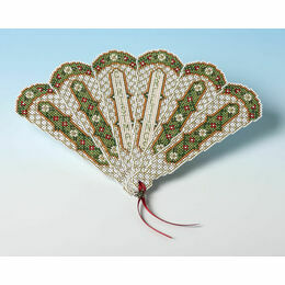 Christmas Fan Victorian Style 3D Card Kit
