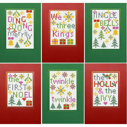 Christmas Carols 2 - Set Of 6 Cross Stitch Card Kits