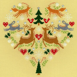 Scandi Heart Cross Stitch Kit