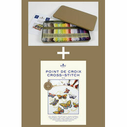 Prestige Metallic Gift Box With 35 New DMC Colours Plus Cross Stitch Chart Book