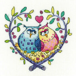 Love Owls Cross Stitch Kit
