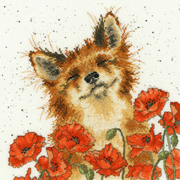 Poppy Field Cross Stitch Kit