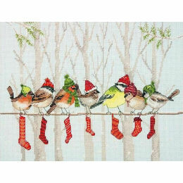 Winter Gathering Cross Stitch Kit