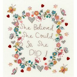 Love Note Cross Stitch Kit