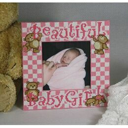 Bouncing Baby Girl Stitch A Frame Cross Stitch Kit