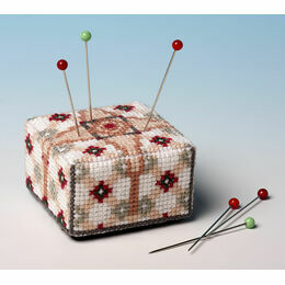 The Victorian Tile Pin Cushion 3D Cross Stitch Kit