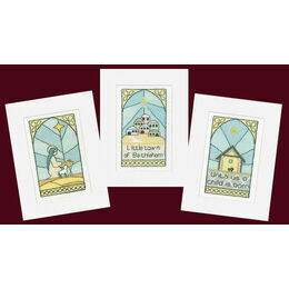 Stained Glass Cross Stitch Christmas Card Kits (Pack B)
