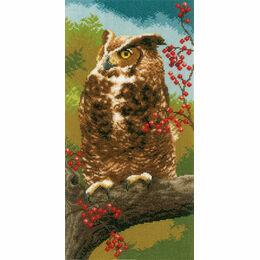 Owl In Autumn Cross Stitch Kit
