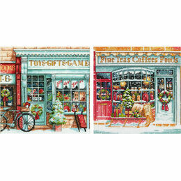 Toy Shoppe & Coffee Shoppe Duo Cross Stitch Kits