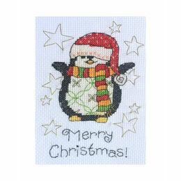 Maisie Penguin Cross Stitch Christmas Card Kit