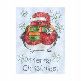 Albie Robin Cross Stitch Christmas Card Kit