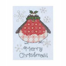 Arthur Robin Cross Stitch Christmas Card Kit