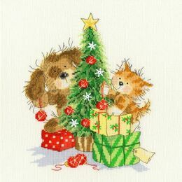 Decorating The Tree Cross Stitch Kit