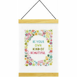 Own Kind Of Beautiful Banner Cross Stitch Kit
