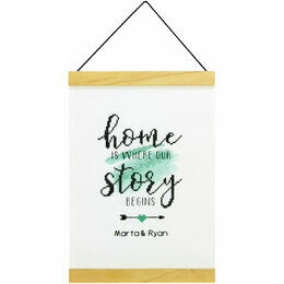 Story Begins Banner Cross Stitch Kit
