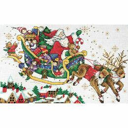 Santa's Sleigh Cross Stitch Kit