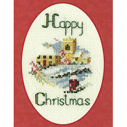 Christmas Village Cross Stitch Card Kit
