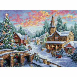 Holiday Village Cross Stitch Kit